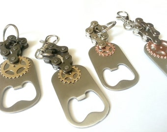 Bike Chain Bottle Opener Key Chain with Gear Charm Personalized ACBOTT02