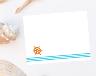 Nautical Flat Note Cards