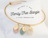 Mothers Day Gift - Custom Birthstone Charm Bracelet For Mom - Mothers Bracelet - Custom Bracelet - Family Tree Bracelet - Gift Jewelry