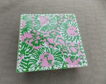 Child's Jewelry Box-Lilly Pulitzer Jewelry Box-Kid's Jewelry Box-Girl Jewelry Box- Flower Girl Gift