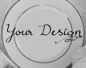 Customizable Plates, Custom China, Customizable Dishes, Personalized Plates, Personalized Dishes, Custom Wedding Plates, Monogram Plates