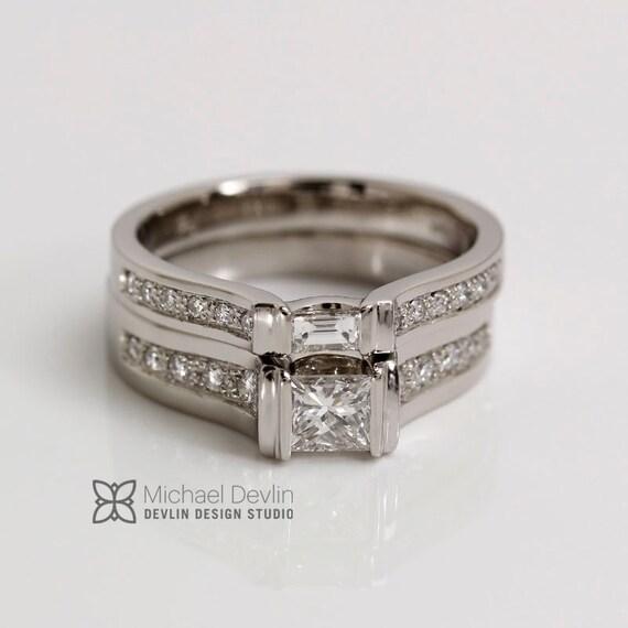 Palladium Princess cut diamond