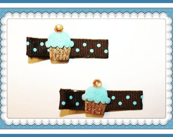 Baby Hair Bows, Baby Hair Clips, Hair Clips For Baby,  Toddler Girl, Infant Hair Clips Cup Cake Collection.