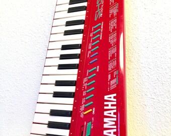 The Holy Grail of Nerdom Hot Rod Red Yamaha SHS10 Synthesizer Keytar Keyboard