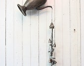 RESERVED FOR SARAH: Vintage Silver Teapot Repurposed into Assemblage Art with Salt Shaker Tops