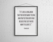 Pam and Jim Love Quote Print