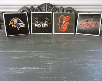Ravens and orioles etsy for Baltimore glassware decorators