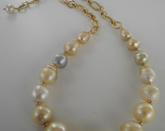 Golden South Sea Tahitian pearl necklace