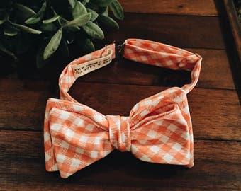 Bow Tie || Tangerine Gingham
