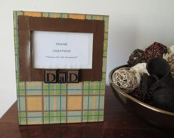 3x5 Dad Themed - Hand Decorated Picture Frame