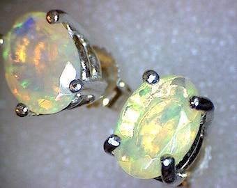 Beautiful Welo Opal Earrings
