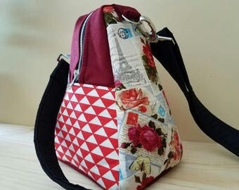 Point and Shoot Camera Bag-Cute-Chic-Fun-Small Camera bag-Detachable shoulder strap-PARIS RED