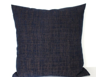 Blue Pillow Cover 16x16 Chenille Upholstery Fabric Throw Pillow Cover Decorative Pillow Cushion Cover