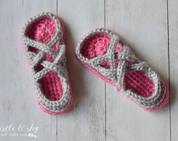 Women's Chunky Gladiator Slippers Crochet Pattern PDF DOWNLOAD
