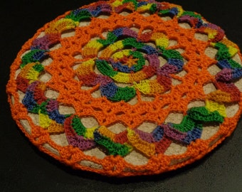 Mexican Doily Trivet Cover