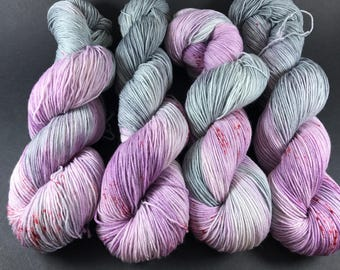Jimmy Sock, Hand Dyed Yarn. Sock Yarn, HauteKnitYarn, Superwash Merino, Fingering weight, Grease, Beauty School Dropout