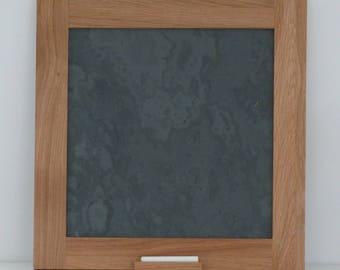 Oak framed slate board  chalk board