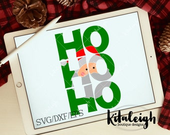 Ho Ho Ho Santa INSTANT DOWNLOAD in dxf/svg/eps for use with programs such as Silhouette Studio and Cricut Design Space