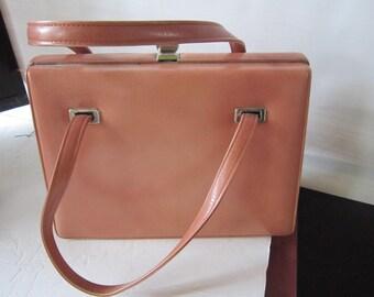 dusty pink kelly bag.handbag. purse. jackie O