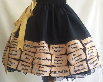 Spells On Parchment Paper Skirt By Rooby lane