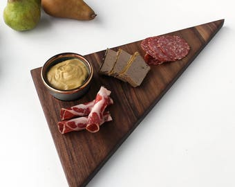 Charcuterie Black Walnut Board With Bowl Serving Modern Shape No. 21