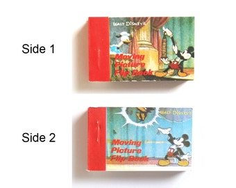 Walt Disney Productions Flip Book - 1 Animation Booklet w/ 2 Sides 1980s Merrimack Pub. Corp. Magician Mickey Mouse Collector Collectible