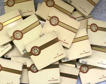 Las Palmas Petit Flamenco cigar tins - vintage tobacciana for storage or crafts - 1960s