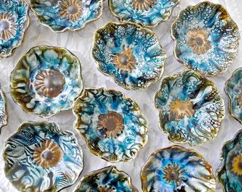 Ring dish, lace bowl, small bowl, ring bowl, sauce dish, dipping bowl, ceramic, decorative bowl, wedding ring dish, snack bowl, salt bowl