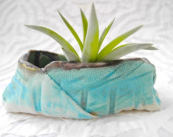 Air Plant Holder, small container, ring holder, ring dish, turquoise bowl,