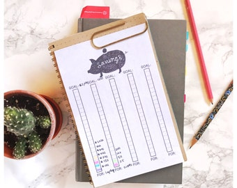 Bullet Journal Download. Savings Tracker Printable Insert Download. Daily Tracker. Monthly Goals Downloadable.