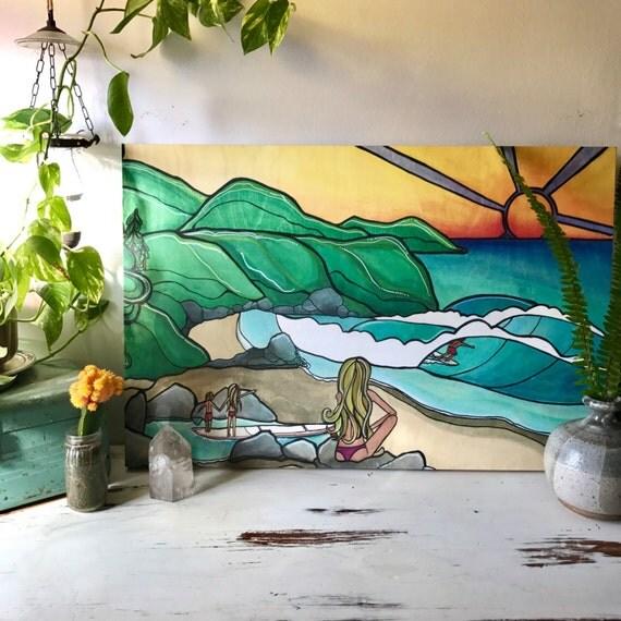 20x30 Canvas Print Surf Family SALE!