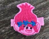 Pink Troll Girl Felt Hair Clippie Babies-Toddlers-Girls
