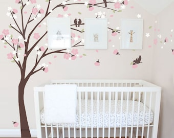 Blowing Flowers and Tree Wall Decal