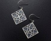 Celtic earrings, silver earrings, oxidized silver earrings