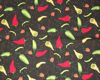 Chili Pepper Fabric, Southwestern Fabric, By The Yard, Lori Lynn Salsa Picante, Quilting Fabric, Sewing Fabric, Apparel Fabric, Crafting