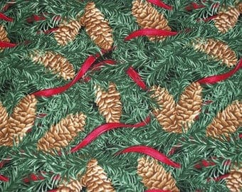 Pine Cone Fabric, Christmas Fabric, By The Yard, Blank Textiles, Home For The Holidays, Sewing Fabric, Novelty Fabric, Quilting Fabric