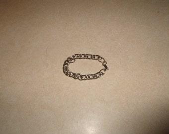 vintage bracelet silvertone chain