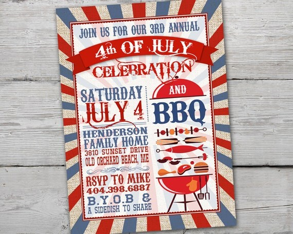fourth of july birthday invitations selo l ink co