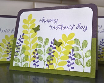 Floral Mother's Day Card, Mother's Day Greeting Card, Mothering Sunday Card
