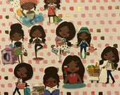 Adulting Divas 2 African American 10 Decorative Planner Stockers will fit most planners