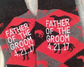 Father of the Groom gift - Father of the Bride Gift - Mens Dress Socks - special walk - Wedding Gift - Dad Gift - Father of the Groom socks