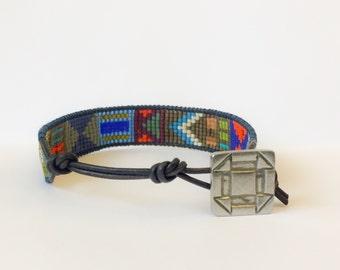 Men's Geometric Pattern bracelet