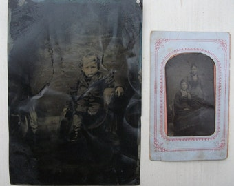 Civil War vintage Tintype Photographs, Full Plate and sixth plate,  Free Shipping