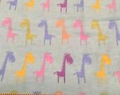 30% OFF Fabric Multi Color Giraffee Flannel Fabric by the yard.