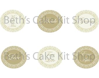 Printable Wedding Cupcake Toppers Download