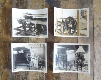 Vintage Industrial Photos / 1940s Black and White Factory Machine Photographs / Industrial Decor