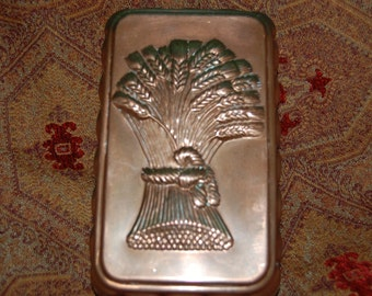 Copper Bread Mold Solid Copper Zinc Lined Bread Mold Wheat sheaf Design Deep Mold Made of solid Copper