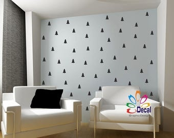 Wall Decals wall stickers Removable multi size small trees VINYL dt005