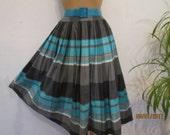 Cotton Skirt / Full Cotton Skirt / Made in West Germany Skirt / Cotton Skirt Size EUR42 / UK14 / Medium Cotton Skirt