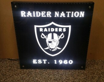 Raider Nation Led Sign 12 x 12